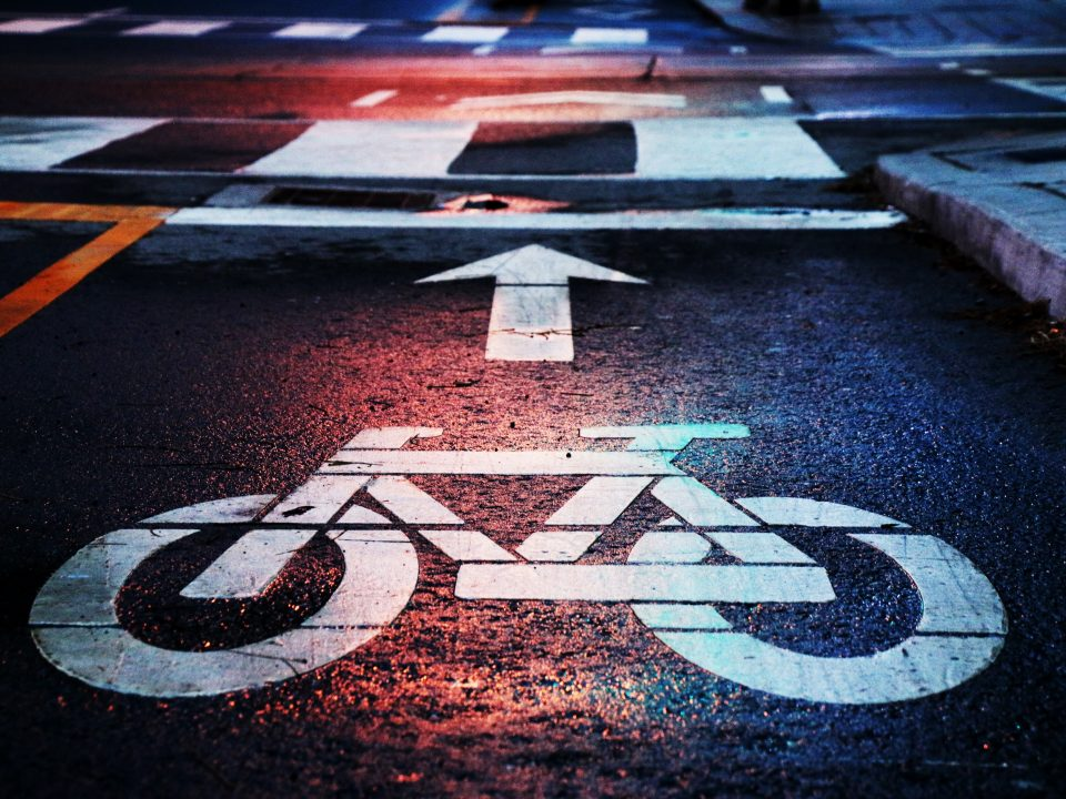 bici en ciudad